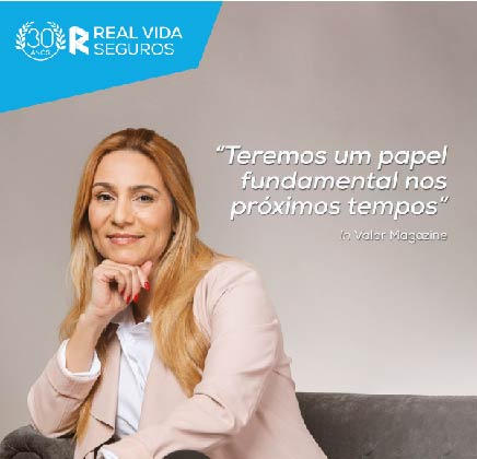 Marta Ferreira, vice-presidente da Real Vida Seguros em entrevista à revista Valor Magazine